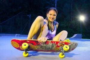 skate sitting