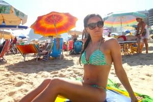 bikini sitting